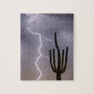 Sonoran Desert Monsoon Storming Jigsaw Puzzle