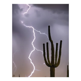 Sonoran Desert Monsoon Storming Letterhead Design
