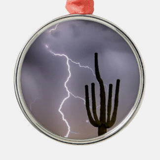 Sonoran Desert Monsoon Storming Silver-Colored Round Ornament