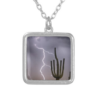 Sonoran Desert Monsoon Storming Silver Plated Necklace