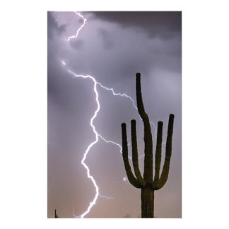 Sonoran Desert Monsoon Storming Stationery