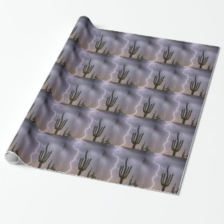 Sonoran Desert Monsoon Storming Wrapping Paper