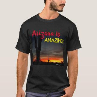 Sonoran Desert sunset Arizona with saguaro cactus T-Shirt