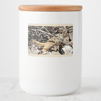 Sonoran Squirrel Custom Food Container Label