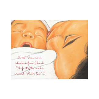 Sons an Inheritance from Jehovah~Scripture~Newborn Canvas Print