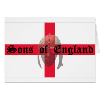 Sons of England text Saxon Helmet Card