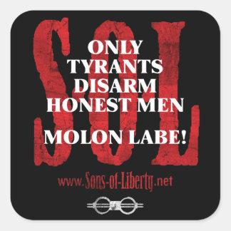 Sons of Liberty MOLON LABE stickers