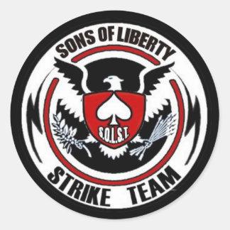 Sons Of Liberty Strike Team Round Sticker