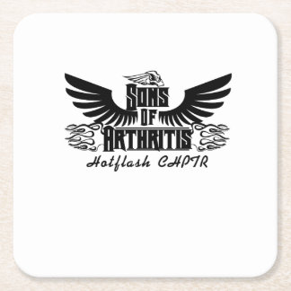 Sons With Arthritis - Arthritis Awareness Square Paper Coaster