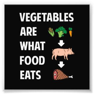 Sont les légumes ce que la nourriture mange tirage photo