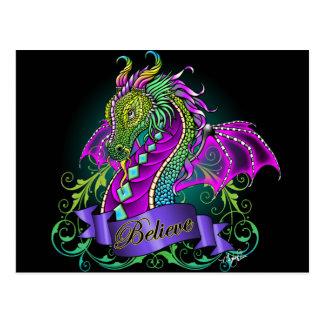 Sonya Believe Rainbow Dragon Postcard
