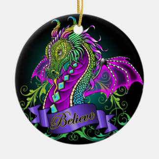 """Sonya"" Rainbow Believe Dragon Art Ornament"