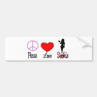 sookie d'amour de paix autocollant de voiture