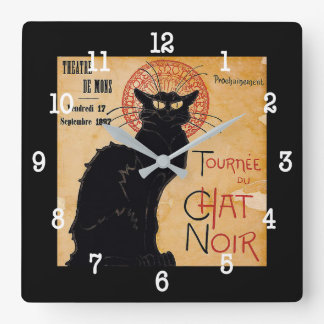"""""""Soon and the Black Cat Tour by Rodolphe Salis"""" Clock"""