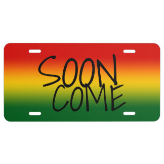 SOON COME - Jamaican Dialect License Plate
