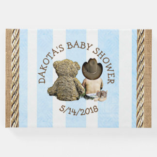"""Soon to b Lil """"Cowboy Baby Shower Guestbook"""