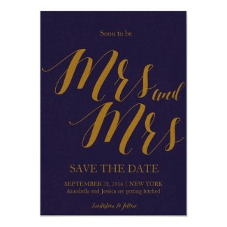 Soon to be Mrs and Mrs Lesbian Save the date Invitation