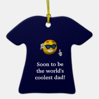 Soon to Be the World s Coolest Dad a Christmas Ornaments