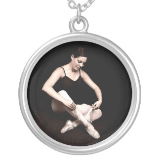 Soon to Soar Ballerina Silver Chain Necklace