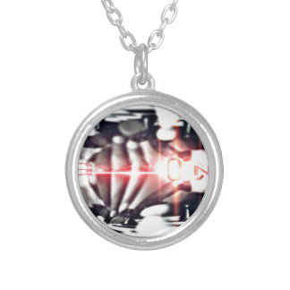 SOOSO VISIONZ CHESS DESIGN SILVER PLATED NECKLACE