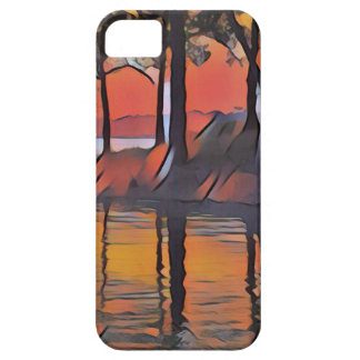 Soothing Artistic Trees Reflections on Water iPhone 5 Covers