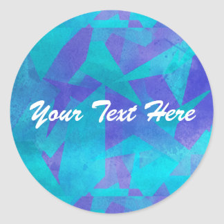 Soothing Colors Digital Abstract Classic Round Sticker