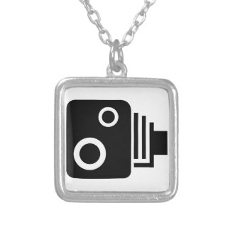 Sopeed Camera Silver Plated Necklace