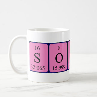 Sophi periodic table name mug