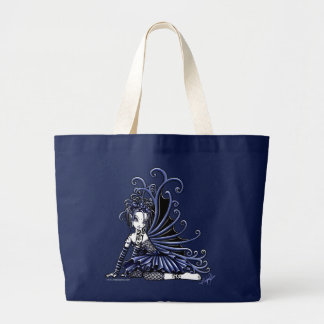 """Sophia"" Blue Tattoo Fairy Canvas Bag"