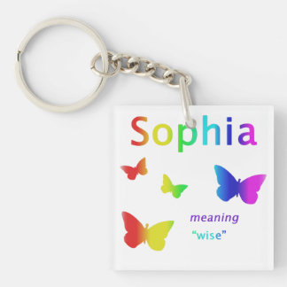 Sophia Gifts Personalized Name Keychain