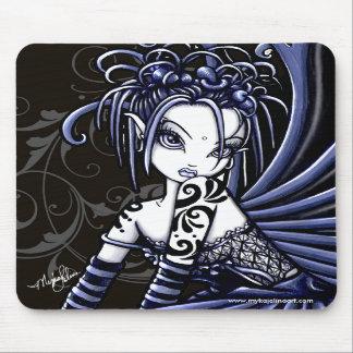 """""""Sophia"""" Gothic Blue Tattoo Fairy Mousepad"""