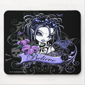 """Sophia Lilly"" Believe Butterfly Fairy Mousepad"