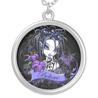 """""""Sophia Lilly"""" Believe Fairy Art Necklace"""