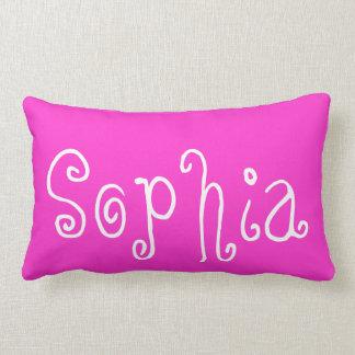 Sophia Pink Lumbar Personalized Pillow