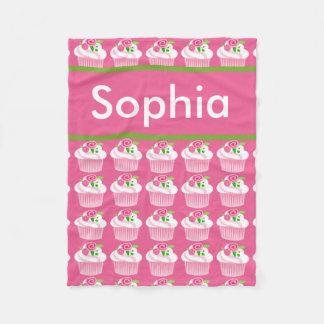 Sophia's Personalized Cupcake Blanket