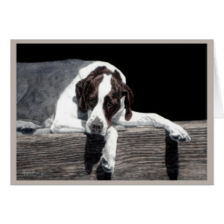"""Sophie"" - English Pointer Card"