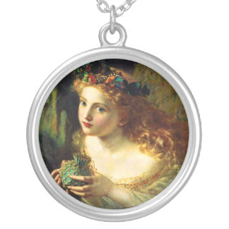 Sophie Gengembre Anderson: Take the Fair Face ... Silver Plated Necklace