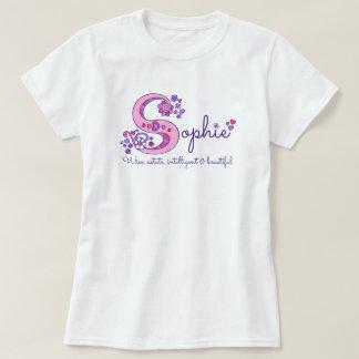 Sophie girls S name meaning monogram shirt