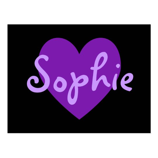 Sophie in Purple Postcard
