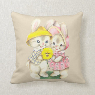 Sophie's bunnies throw pillow