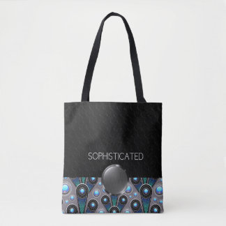 SOPHISTICATED - Black, Blue, Silver - Handbag