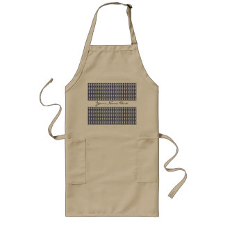 Sophisticated Blue & White Geometric Pattern Long Apron