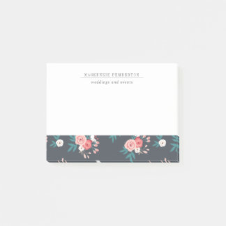 Sophisticated Botanical Business Post-its Post-it Notes