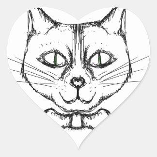 Sophisticated Cat Heart Sticker