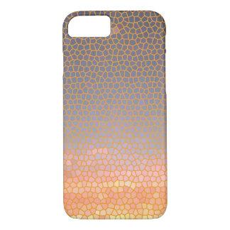 Sophisticated Chic Elegant Orange and Blue Pattern iPhone 7 Case
