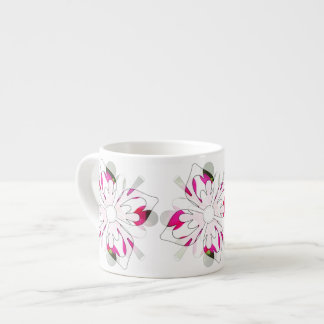 Sophisticated fantasy flower cappuccino cup