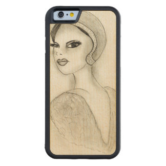 Sophisticated Flapper Carved Maple iPhone 6 Bumper Case
