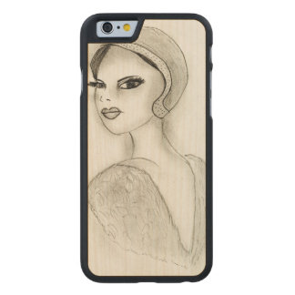 Sophisticated Flapper Carved Maple iPhone 6 Case
