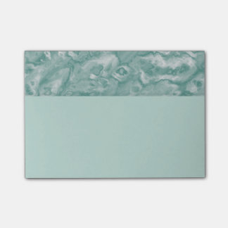 Sophisticated Green Marble Post It Notes