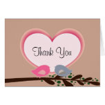 Sophisticated Love Birds Thank You Notes Greeting Cards